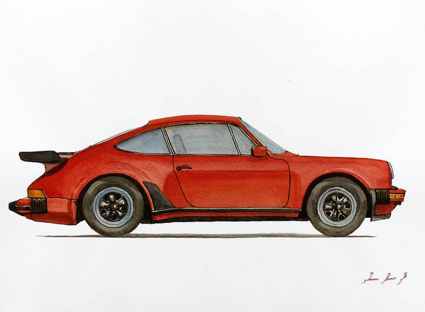 Wall Art - Painting - Porsche 930 Turbo 911 by Juan  Bosco