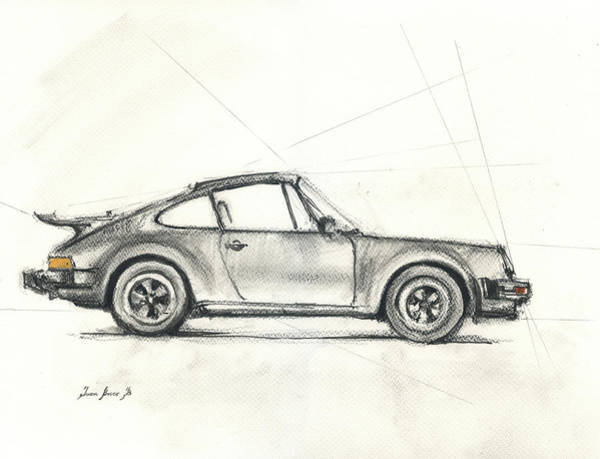 Porsche Painting - Porsche 930 Turbo by Juan Bosco