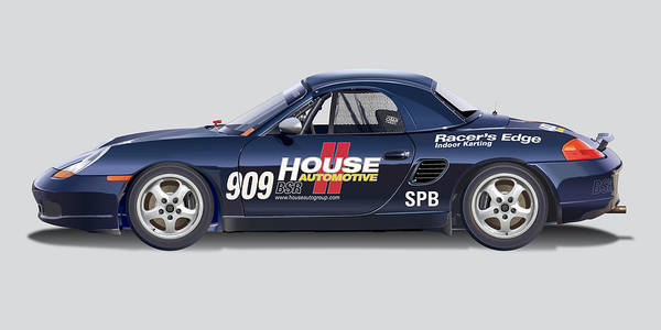 Wall Art - Digital Art - Porsche Boxster Racer Image by Alain Jamar