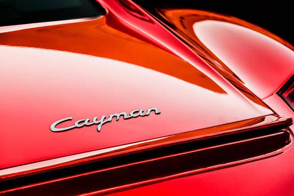 Photograph - Porsche Cayman Taillight Emblem -1584c by Jill Reger