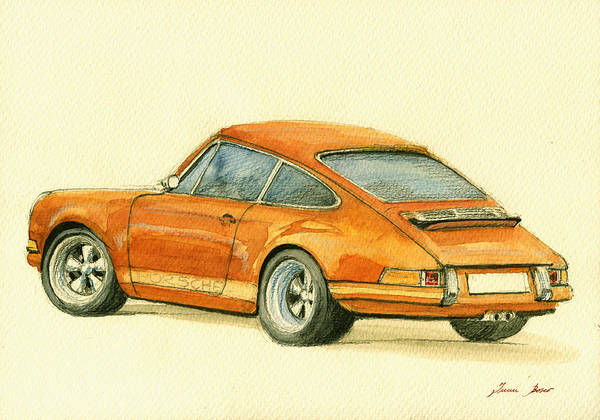 911 Painting - Porsche Classic Art 911 by Juan  Bosco
