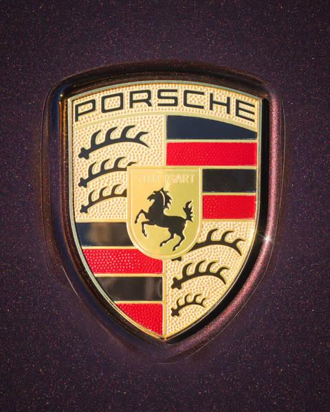 Photograph - Porsche Emblem -0274c45 by Jill Reger
