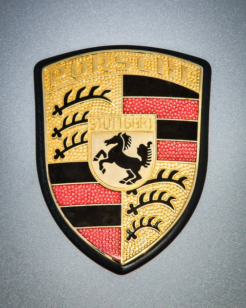 Wall Art - Photograph - Porsche Emblem -0747c45 by Jill Reger