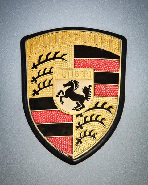 Photograph - Porsche Emblem -0747c45 by Jill Reger
