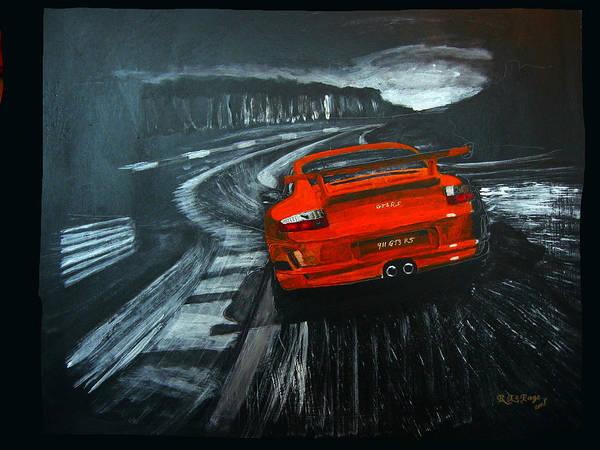 Painting - Porsche Gt3 Le Mans by Richard Le Page