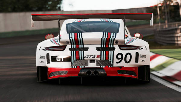 Porsche Gt3, Martini Racing, Monza - 03 Art Print
