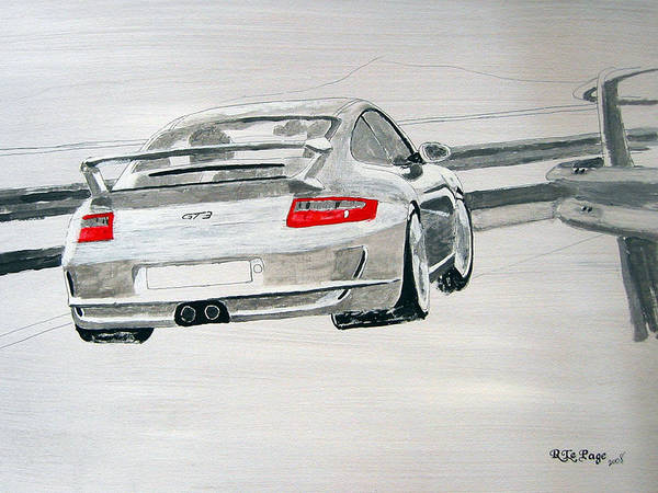 Painting - Porsche Gt3 by Richard Le Page