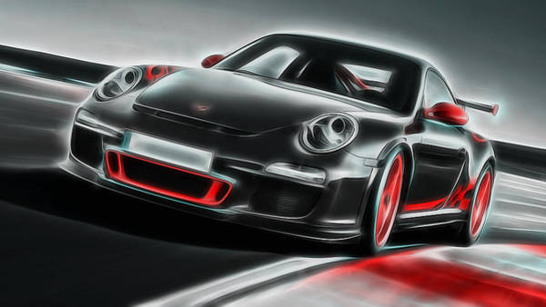 Painting - Porsche Gt3 - Rs Power by Andrea Mazzocchetti