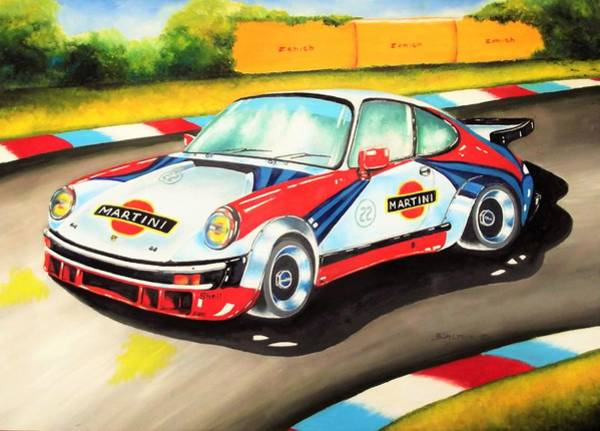 Painting - Porsche In Action by Anne Dalton