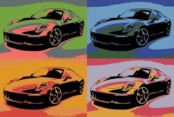 Fast Mixed Media - Porsche Pop Art by Dan Sproul
