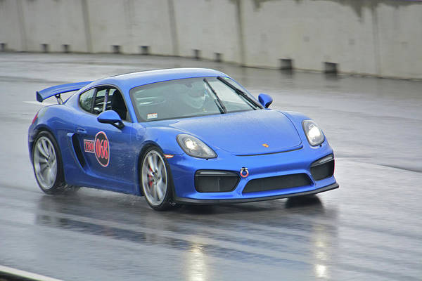 Whiskey Hill Wall Art - Photograph - Porsche Races In Rain by Mike Martin