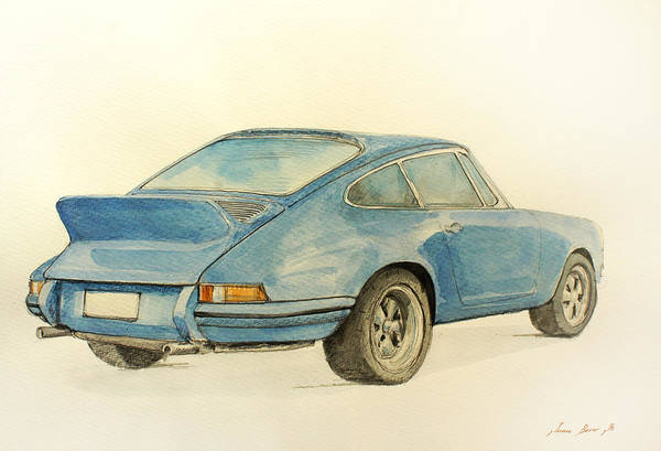 Decor Painting - Porsche Rs by Juan  Bosco