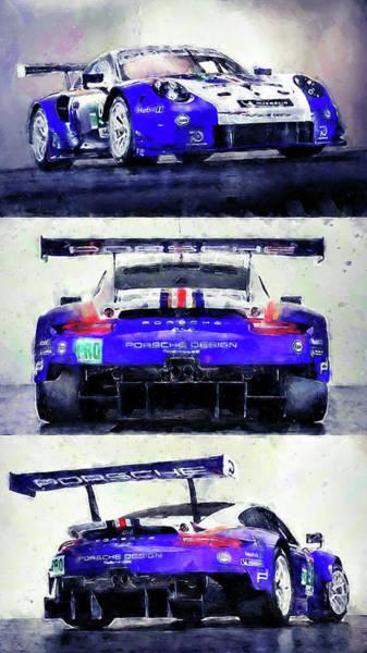 Porsche Rsr Le Mans 2018 - 02 Art Print