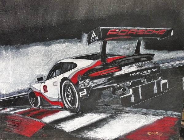 Pastel - Porsche Rsr Le Mans by Richard Le Page