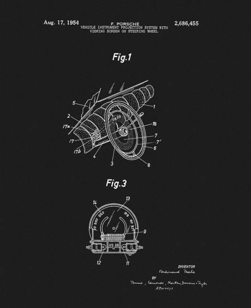 Fast Mixed Media - Porsche Steering Wheel Patent by Dan Sproul