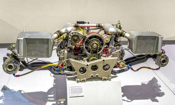Photograph - Porsche Type 935/76 Flat-six Engine by Gene Parks