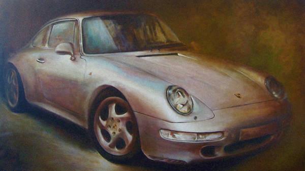 Acrilic Painting - Porsche by Vali Irina Ciobanu