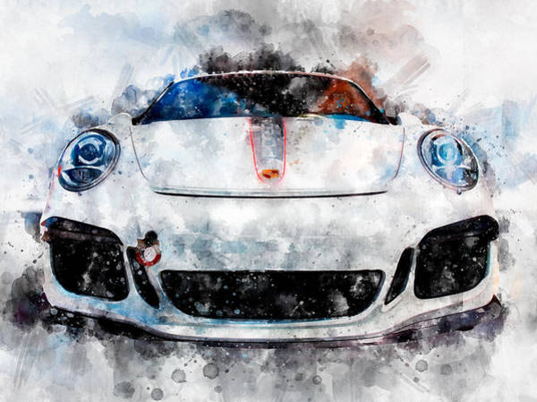 Photograph - Porsche Watercolor by Michael Colgate