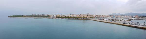 Sea Wall Art - Photograph - Port And City Of Aegina Panorama by Iordanis Pallikaras