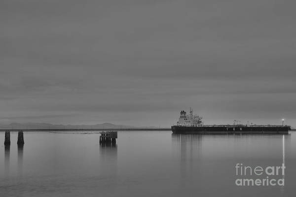 Photograph - Port Angeles Shipping Black And White by Adam Jewell