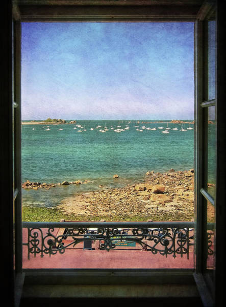 Photograph - Port Blanc Brittany - View From Grand Hotel by Menega Sabidussi