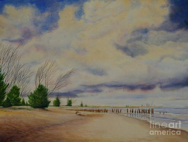 Painting - Port Canaveral Beach by AnnaJo Vahle