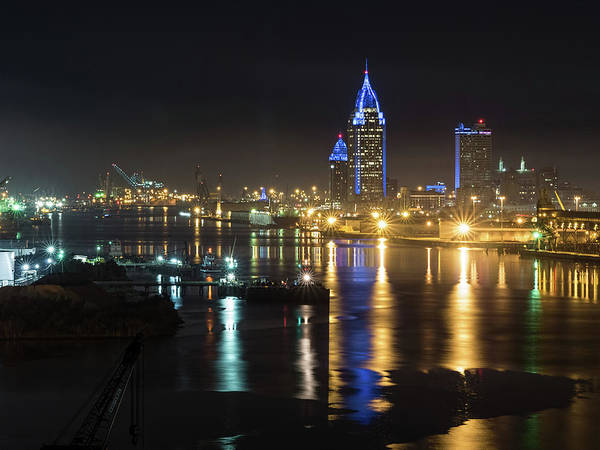 Photograph - Port City Honors Blue by Brad Boland