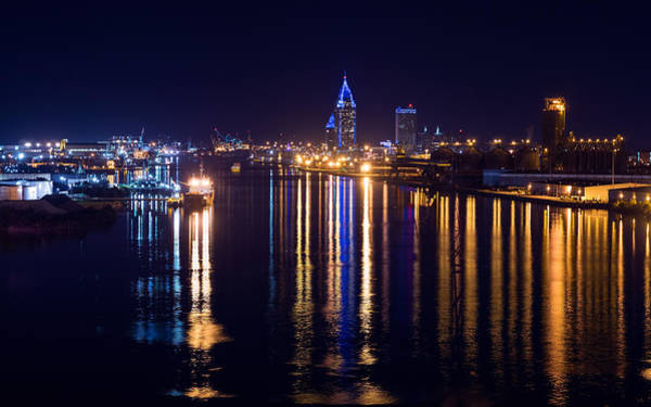 Photograph - Port City In Blue by Brad Boland