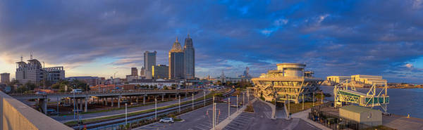 Photograph - Port City Skyline Panorama by Brad Boland