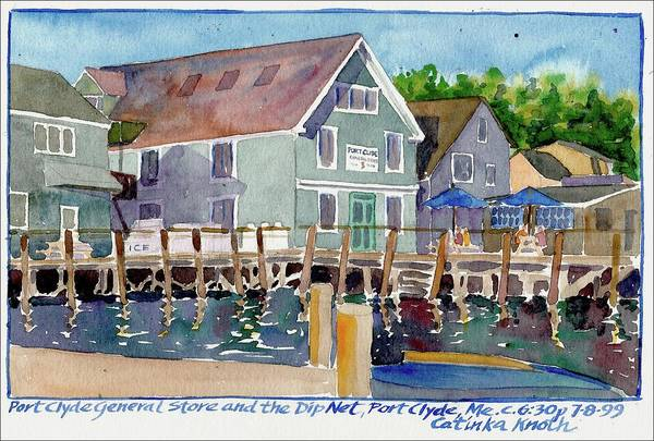 Painting - Port Clyde General Store Maine by Catinka Knoth