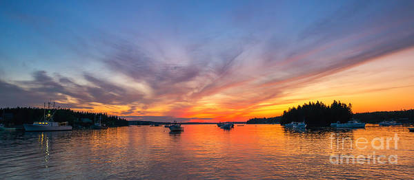 Fire In The Sky Wall Art - Photograph - Port Clyde Sunset by Michael Ver Sprill
