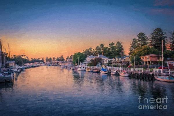 Photograph - Port Fairy Sunset  Ed by Ray Warren
