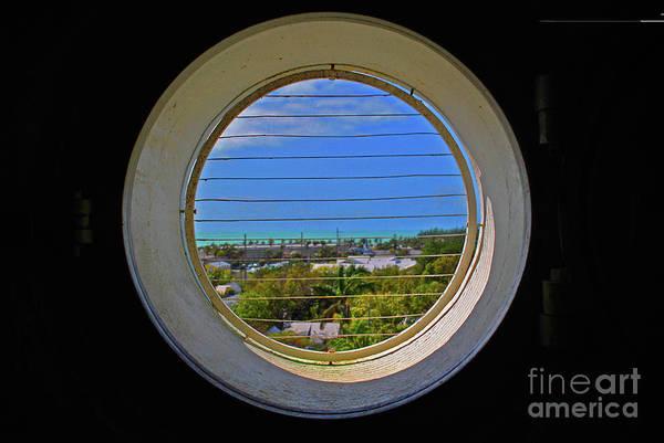 Photograph - Port Hole Blue by Jost Houk
