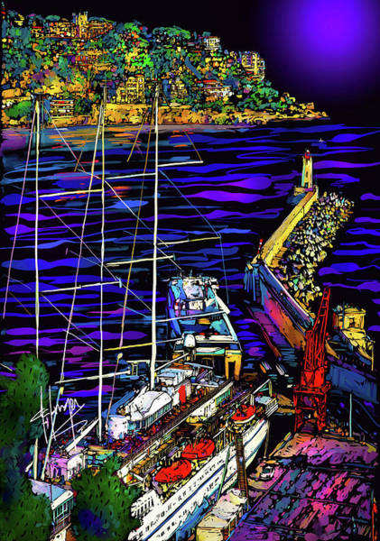 Painting - Port In Nice, France by DC Langer