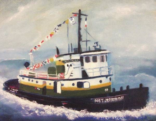 Leclair Painting - Port Jefferson by Suzanne  Marie Leclair