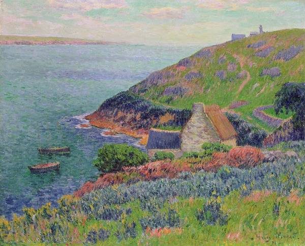 Outcrop Painting - Port Manech by Henry Moret