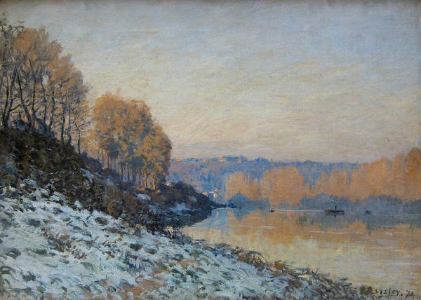 Painting - Port Marly, Hoarfrost  by Alfred Sisley
