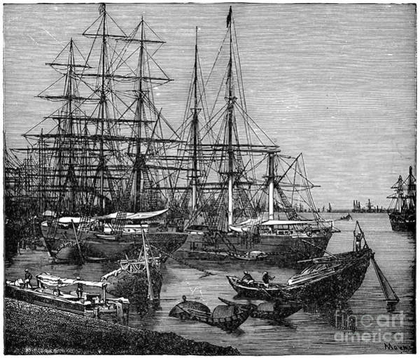 Wall Art - Drawing - Port Of Calcutta, C1894.  by Granger