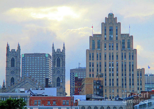 Wall Art - Photograph - Port Of Montreal Skyline by Randall Weidner