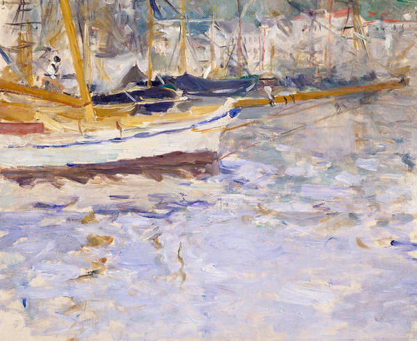 Painting - Port Of Nice by Berthe Morisot