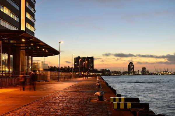 Photograph - Port Of Rotterdam At Dusk by Carlos Alkmin