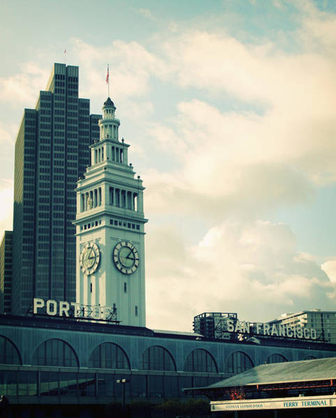 Clock Wall Art - Photograph - Port Of San Francisco by Linda Woods