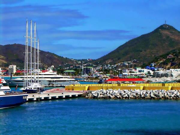 Photograph - Port Of St. Maarten by Anthony Dezenzio