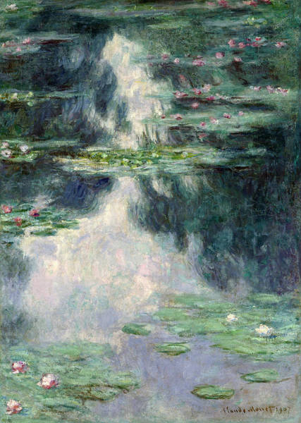 Plant Reproduction Painting - Port-pond With Water Lilies-1907 by Claude Monet