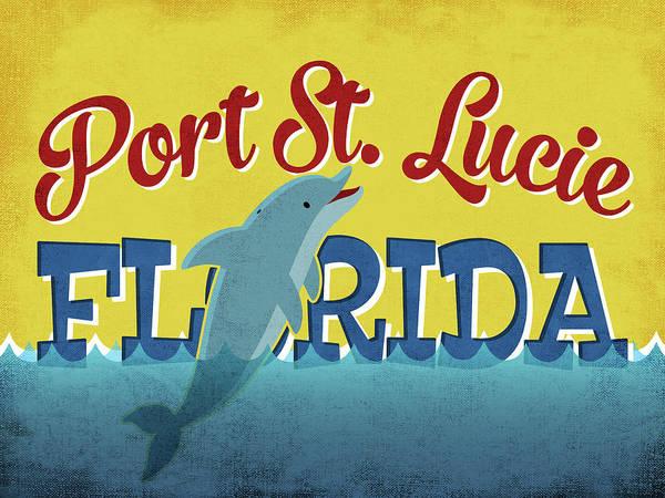 Advertisement Digital Art - Port St Lucie Florida - Dolphin by Flo Karp