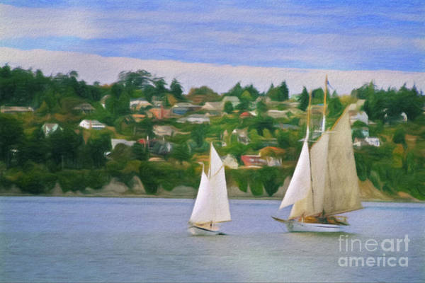 Port Townsend Digital Art - Port Townsend Sailing by Patrick M Lynch