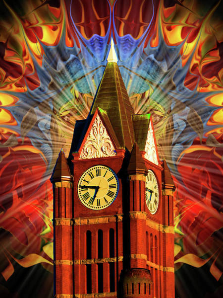 Port Townsend Digital Art - Port Townsend Clock Tower #3 by Glen Faxon