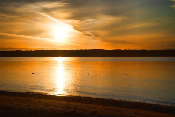 Flagler Photograph - Port Townsend Sundown by Allan Van Gasbeck