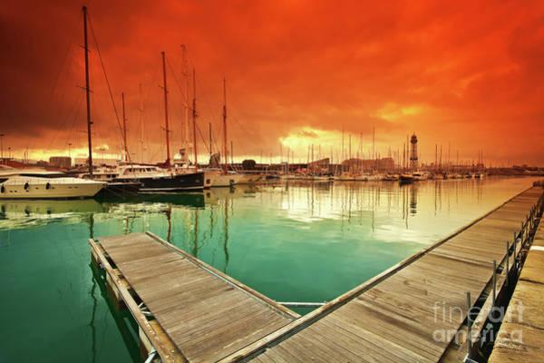 Moor Photograph - Port Vell - Marina In Barcelona, Spain by Thomas Jones