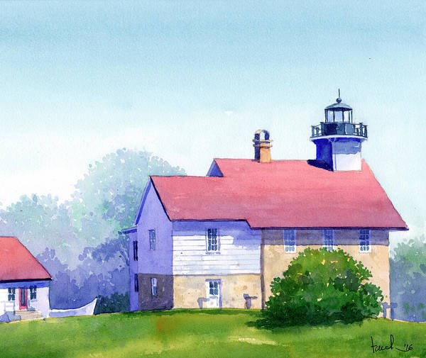 Painting - Port Washington Lighthouse by James Faecke